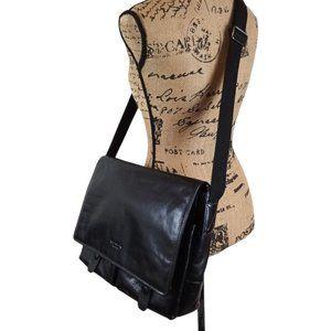 Pierre Cardin Leather Crossbody Messenger Bag N134